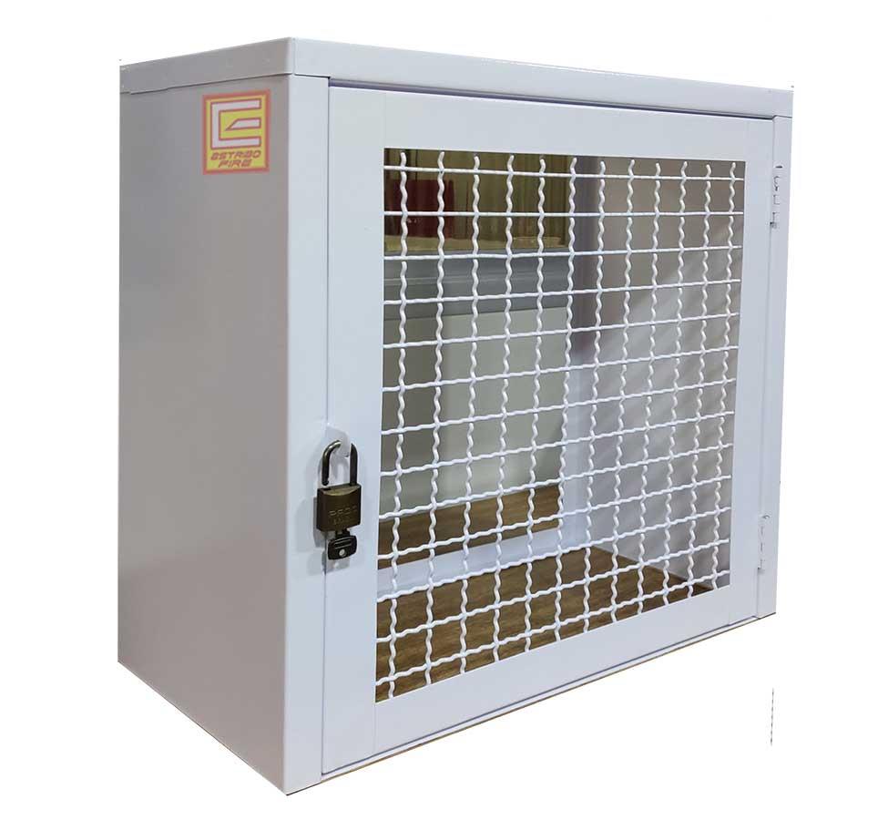 Abrigo para Gás padrão COMGÁS – Aço com pintura Eletrostática - EstriboFire