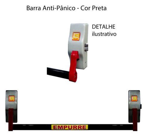 Barra anti-panico Estribofire cor preta