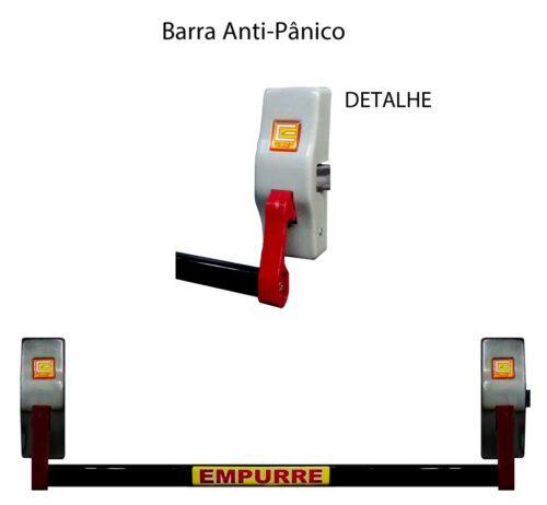 Barra anti-panico Estribofire preta
