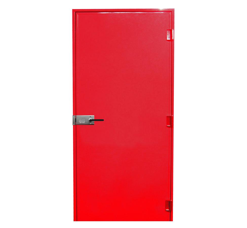 Porta corta-fogo simples Estribofire cor vermelha