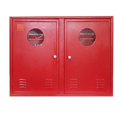 Abrigo para Mangueira Hidrante Duplo 90x120x17 cm - Estribofire sobrepor (Frontal)