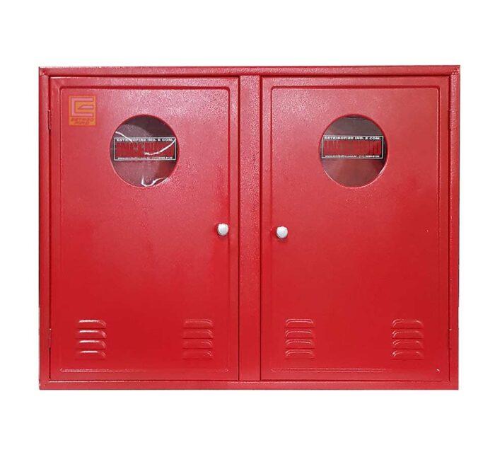 Abrigo para Mangueira Hidrante Duplo 90x120x30 cm - Estribofire sobrepor (Frontal)